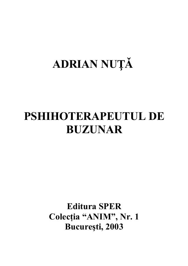 Pshihoterapeutul De Buzunar